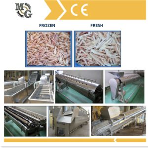 1.5t/H Full Automatic Chicken Claw Peeling Machine pictures & photos