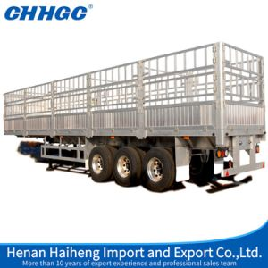 Hot Sale 3axle Fence Stake Semi Trailer China Best Warehouse Storage Goods Trailer