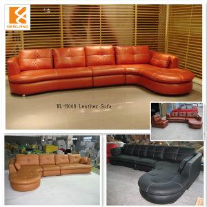 China Leather Round Corner Sofa Nl