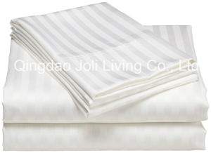 1cm Satin Sripe Hotel Bedding Sets/Striped Hotel Bed Sheets