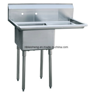 One Compartment Sink W/Right Drain Board (KSA-1-R1)