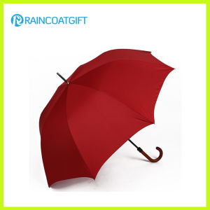 Manual Opening Big Size Golf Umbrella with Wooden Handle pictures & photos