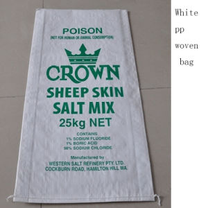 White PP Woven Bag Plastic Bags Export to Mali
