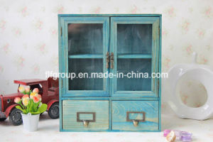 France Chic Solid Wood Old Vintage Customized Cupboard Display Box pictures & photos
