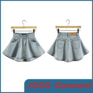 Wholesale New Design Girl Jean Mini Skirt (JC2045) pictures & photos