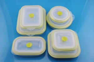 Eco-Friendly Collapsile Silicone Takeaway Food Container Set