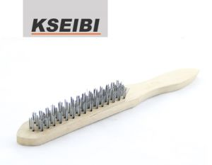 Kseibi Cruved Back Hand Brush with Wooden Handle pictures & photos