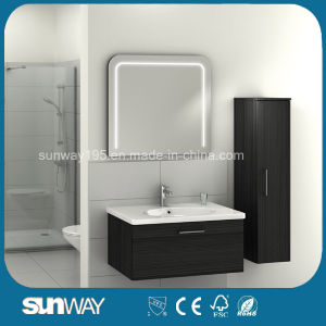 Modern Design Melamine Bathroom Cabinet with Mirror (SW-ML1308) pictures & photos