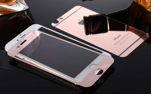 promo code 9984f ceb77 Tempered Glass Screen Protector for iPhone 6/6s Plus Electroplating Rose  Gold