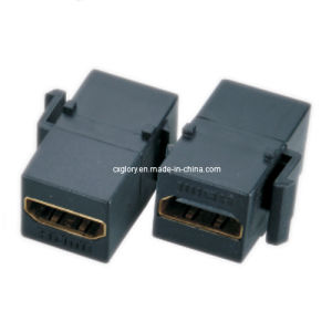 Black HDMI Female to Female Keystone Jack pictures & photos