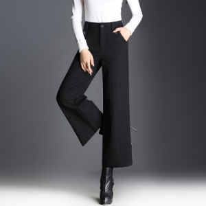 Autumn Winter Korean Womens Thick Warm Loose Wide Leg Pants pictures & photos