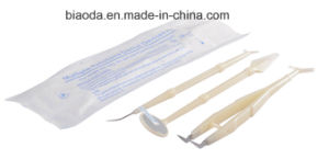 3 Pieces Disposable Dental Instrument Kits (dental mirror, dental curve needle, dental tweezer) pictures & photos