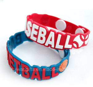 Fashion Sports Rubber Bracelet with Embossed Logo (BR009) pictures & photos