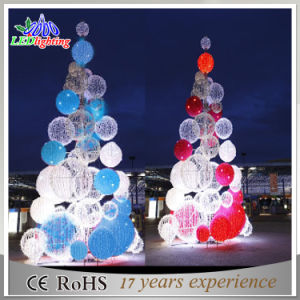 Outdoor Christmas Tree With Lights.Decorative Lighted Large Artificial Outdoor 3d Christmas Tree With Balls