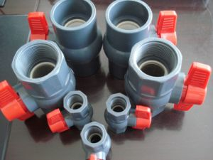 Manufacturer PVC Plastic Male Thread Ball Valve