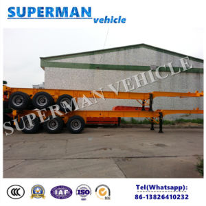 Vietnam Tri-Axle 40FT Skeletal Container Truck Semi Trailer for Port pictures & photos