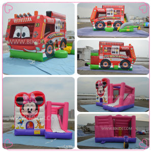 Inflatable Fire Fighting Truck Combo, Inflatable Jumping Bouncer for Kids and Adults B3092 pictures & photos