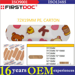 High Quality OEM 72*19mm PE Material Cartoon Adhesive Bandages pictures & photos