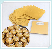 Chocolate Wrapping Paper, Gold Aluminum Foil Paper