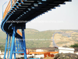 8.3 Km Fully Sealed Tubular Rubber Pipe Belt Conveyor