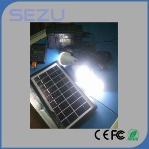 Solar Energy Lighting System with Mobile Phone Charger for Home and Camping