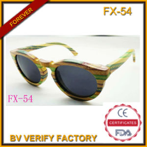 Fashion Bamboo and Wooden Frame Sunglasses(Fx54 pictures & photos