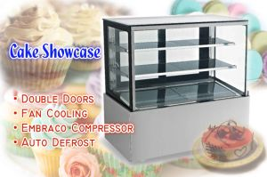Double Layers Right-Angle Cake Display Showcase pictures & photos