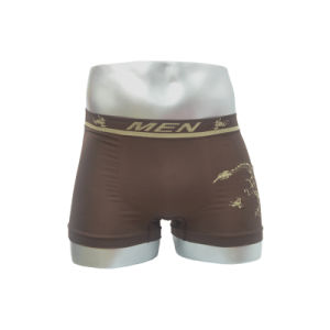Nylon Seamless Men′s Boxer with Printed Belt