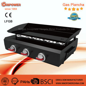 3 Burner Gaz Plancha BBQ Grill with Ce for France pictures & photos