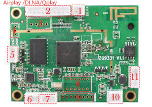 2016new WiFi Audio Player Module Streaming Music From Devices Support  Airplay, Dlna  Qplay APP
