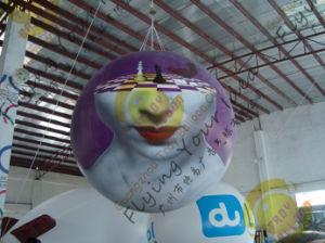 1.5m Dia. 0.18mm PVC Total Digital Printing Advertising Balloon