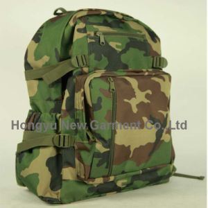 Military Camping Backpack with Double Shoulder Laptop Backpack (HY-B055)