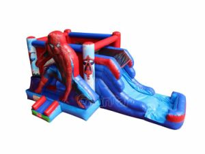 Spiderman Inflatable Bounce House with Water Slide Combo Chb755