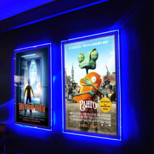 China Ultra Thin Acrylic Frameless Led Illuminated Movie Poster
