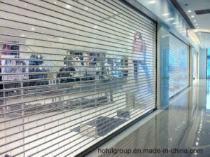 Electrically Operated Transparent Polycarbonate Roller Shuters Door pictures & photos