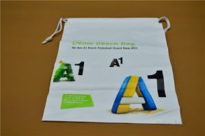 Printed Plastic Drawstring Storage Bag (HBPL-7) pictures & photos