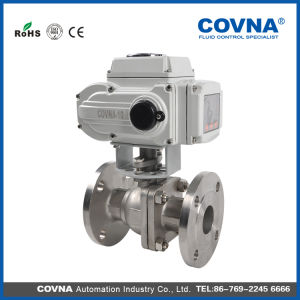 DC24V Electric Flange Ball Valve