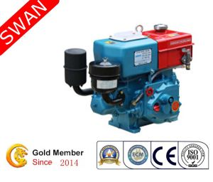 6HP Water Cooled Single Hand Crank Cylinder Diesel Engine (R175A)