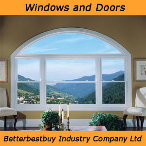 Arch Design UPVC Window for Better Weather Insulated Solution pictures & photos