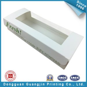 White Food Paper Packaging Box with Wondow (GJ-box142) pictures & photos