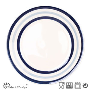 Blue Circle Ceramic Dinner Plate pictures & photos
