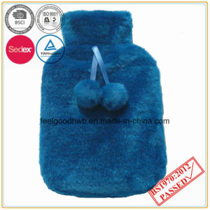 BS Quality Hot Water Bottle with POM POM Plush Cover pictures & photos