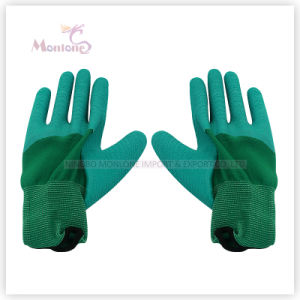 13gauge Half Latex Coating/Dipped Polyester Working Garden Safety Work Gloves pictures & photos