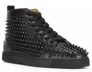5601e7d79d16 China Fashion Designer Brand Studded Spikes Flats Shoes Red Bottom ...