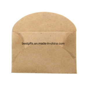 Expandable Brown Kraft Paper Envelope for Letter or Coins Packaging