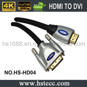 High Speed Gold-Plated HDMI to DVI Cable for Evd, AMP, HDVD and HDTV