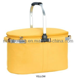 Thermal Insulated Picnic Cooler Basket with Aluminium Handle pictures & photos
