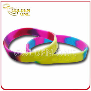 Fashion Custom Luminous Colorful Printed Logo Silicone Wristband pictures & photos