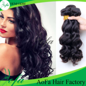 Wholesale Grade 7A Human Indian Hair Extension Double Drawn pictures & photos