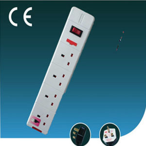 Four Way, UK Extension Outlet Socket with Switch
